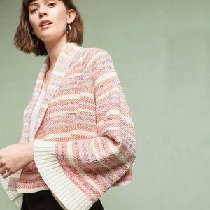 Anthro Moth Pink Orange Mahalia Kimono Cardigan